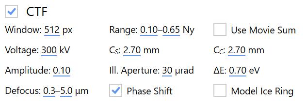 CTF settings
