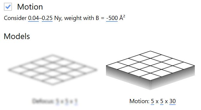 Motion settings